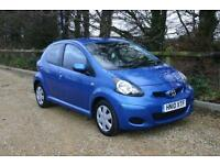 Only 42137 Mile TOYOTA AYGO Blue 5 Door with NEW MOT and SERVICE HISTORY