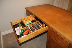 Antique Oak Desk Kitchener / Waterloo Kitchener Area image 4