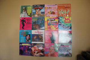 Vintage Record Music Album Montage Art Wall Display