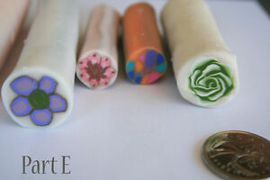 7 original unbaked polymer clay canes made by artist Kitchener / Waterloo Kitchener Area image 4