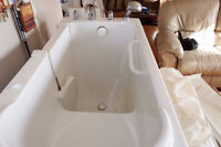 Bathtub, WALK IN, with seat and massage air jets
