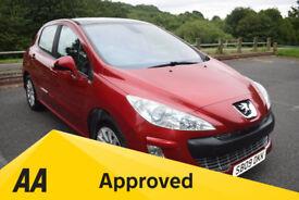 Peugeot 308 1.6 SE VTI 120 ** 6 MONTH WARRANTY ** (red) 2009