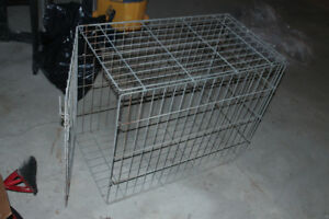 large dog animal cage 21Wx 36L x30H bare steel as in pics