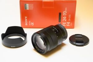 like new Sony Vario-Tessar T* FE 24 70 f4 ZA OSS Lens in box
