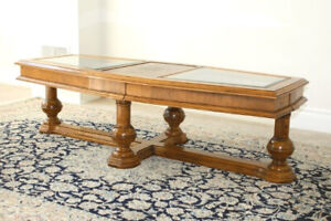 Solid Wood and glass coffee table