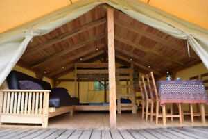 Glamping Cabin Tents at Wild Woods Hideaway (opens May long)