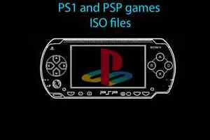 PSP and PS1 games ISO files