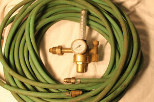 WIRE FEED WELDER REGULATOR & HOSE   $ 15.00