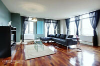 Contemporary 2BDR apt., furnished & equip., all incl., Atwater
