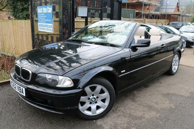 2002 52 bmw 318 ci auto convertible black needs tlc low mileage car in chesham. Black Bedroom Furniture Sets. Home Design Ideas