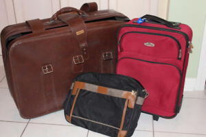 LUGGAGE SUITCASE 28 X 18 AND TWO CARRY-ON 3-PIECE $20
