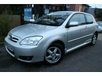 2005 (55 Plate) Toyota Corolla 1.6 VVT-I COLOUR COLLECTION 3 Dr Silver Long MOT