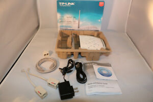 TP-LINK ADSL2 Modem and WIFI 150mbps Router + DSL Filters - NIB