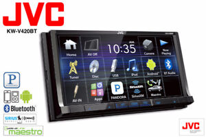 """JVC  7"""" Double DIN Touchscreen with USB AUX DVD Bluetooth"""