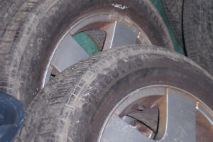 195x65x15  4 rims with tires  continental