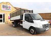 "2012 FORD TRANSIT 350 TDCI 115 MWB SINGLE CAB ""ONE STOP"" CAGED TIPPER DRW RWD TI"