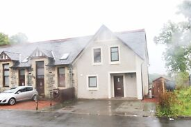 3 Bedrm Semi-det house FOR LET Available Now DUNOON, GCH DG Unfurnished, garden, parking, quiet loc