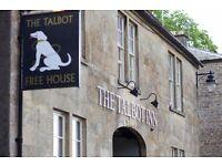 Full Time Bar Staff / Bar Supervisor required at the Talbot Inn, Mells