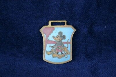 1934 DISNEY MICKEY MOUSE ENGLISH VERSION POCKET WATCH FOB