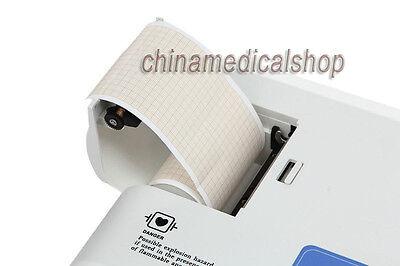 NEW FDA DIGITAL SINGLE CHANNEL 12 LEADS PORTABLE ECG/EKG MACHINE ELECTROCARDIOGRAPH