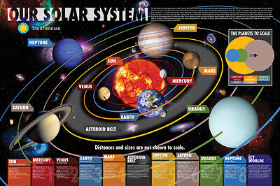 Smithsonian- Our Solar System Poster Print, 36x24