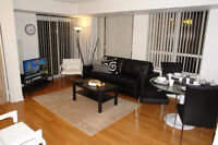 FULLY FURNISHED-1 BEDROOM-SQUARE ONE-MISSISSAUGA-NIGHTLY-WEEKLY