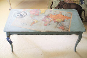 COFFEE TABLE, FRENCH COUNTRY, SHABBY CHIC, HAND PAINTED