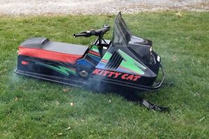 Wanted Kitty Cat snowmobile and 120 cc snowmobile