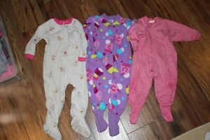 Girls 18 Month fleece sleepers