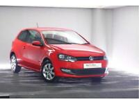 2013 Volkswagen Polo 1.2 (60ps) Match Edition Petrol red Manual