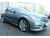 2013 SILVER MERCEDES E350 3.0 CDI AMG SPORT DIESEL COUPE CAR FINANCE FR £177 PCM