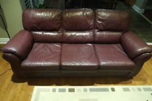 Top Grain Leather Sofa and Loveseat $350