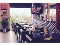 Kitchen porter, waitresses and bar staff required for restaurant and cocktail bar in Brentford
