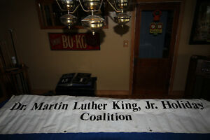 VINTAGE DR MARTIN LUTHER KING VINYL BANNER NEW PRICE
