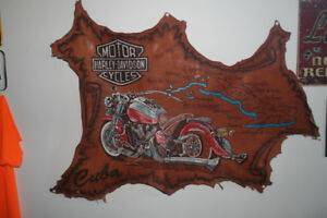 Leather Harley Davidson Wall Hangings
