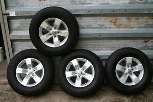 2015 DODGE ALLOY RIMS WITH 265/70/17 GOODYEAR Regina Regina Area image 2