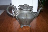 17th C 1880 Shaw and Fisher Pewter Teapot JUST REDUCED