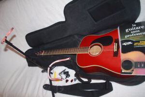 ( 9 PIECE ) ACOUSTIC GUITAR KIT ( $200 of accessories included )