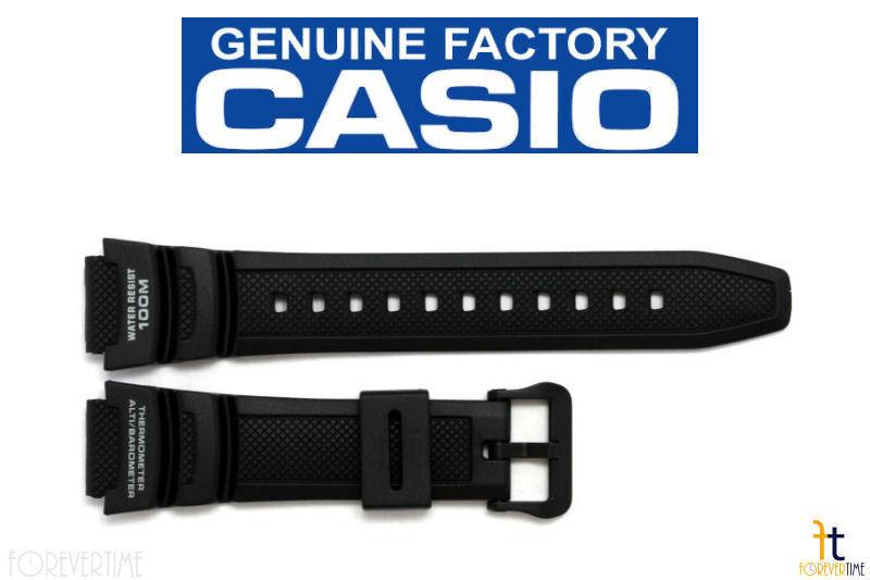 CASIO SGW-300H-1AVH Original 18mm Black Rubber Watch BAND Strap SGW-400H-1BVH
