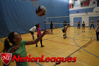 Refereed Volleyball League - Coed and all skill levels welcome