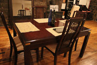 high end wood dining table