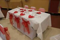 Décoration d'événement, Mariage, Housse,Nappe, Mouchoirs,Boucles