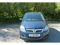 2011 VAUXHALL ZAFIRA 1.6I 7 SEATER MANUAL