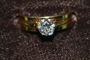 Solitaire Diamond 3/4K Ring