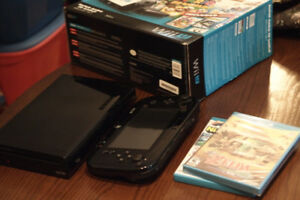 Nintendo Wii U Deluxe 32GB System w/ Box and 2 Games