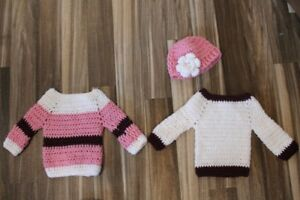 Hand Crocheted Baby Girl Sweaters