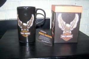 Brand New Licenced Harley Davidson 20oz Travel Mug In Gift Box