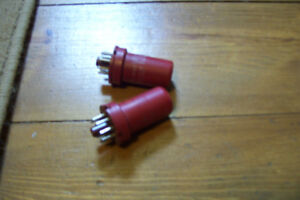TWO VERY RARE RCA RED METAL TYPE 5693 AMP TUBES Stratford Kitchener Area image 2