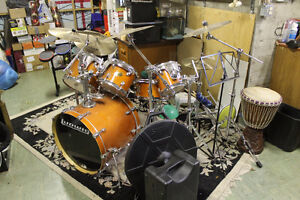 Ludwig Accent CS Custom Amber Birchwood 6 Piece Drum Kit+Cymbals