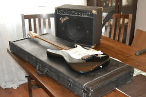 MIM Fender Statocaster with Frontman Amp and Case